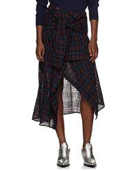 Faith Connexion - Checked Shirt Wrap Skirt - Lyst
