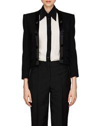 Givenchy - Satin-trimmed Wool Twill Crop Blazer - Lyst