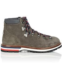 Moncler - Peak Suede Hiking Boots - Lyst