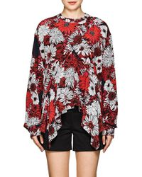 Cedric Charlier - Floral Print Top - Lyst