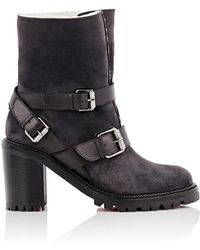 Christian Louboutin - Viyonce Suede Ankle Boots - Lyst