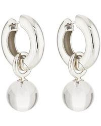 AGMES - Sonia Hoop Earrings - Lyst