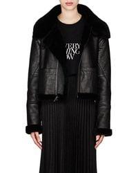 Saint Laurent - Leather & Shearling Asymmetric-zip Jacket - Lyst