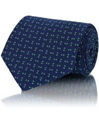 Ralph Lauren Purple Label - Geometric-print Silk Necktie - Lyst