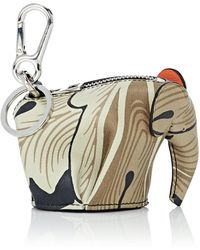 Loewe - Elephant Leather Coin Purse Key Chain - Lyst