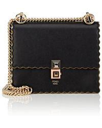 Fendi - Kan I Mini Leather Shoulder Bag - Lyst