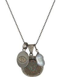 Feathered Soul - Heiroglyphs Charm Necklace - Lyst