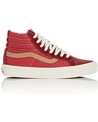 Vans - Sk8-hi Suede & Canvas Sneakers - Lyst