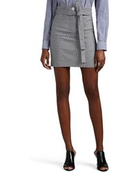 Robert Rodriguez - Lexy Gingham Cotton-blend Belted Miniskirt - Lyst