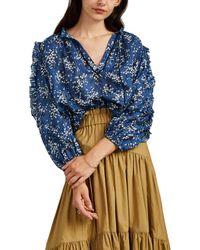 Ulla Johnson - Manet Floral Cotton-silk Blouse - Lyst