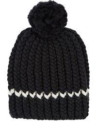 Wommelsdorff Milou Striped Chunky Wool Beanie