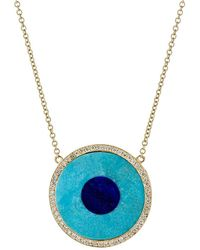 Jennifer Meyer - Inlay Evil Eye Necklace - Lyst