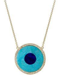 Jennifer Meyer - Evil Eye Pendant Necklace - Lyst
