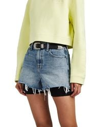 Alexander Wang Bite High-rise Denim Cutoff Shorts