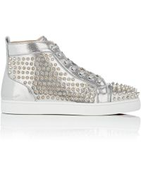Christian Louboutin - Louis Flat Printed Leather Trainers - Lyst