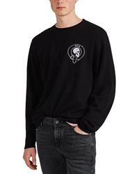 RTA - Skull Embroidered Wool-cashmere Sweater - Lyst