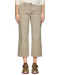 ATM - Cotton Crop Boyfriend Trousers - Lyst