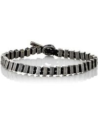 M. Cohen - Rectangular-beads & Knotted Cord Bracelet - Lyst