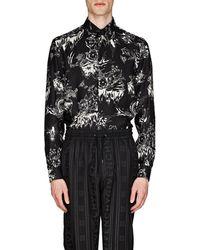 Givenchy - Dragon-sky-print Silk Shirt - Lyst