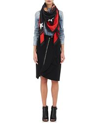 Givenchy - Rottweiler-graphic Silk-blend Voile Scarf - Lyst
