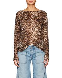 Nili Lotan - Harper Leopard-print Silk Blouse - Lyst