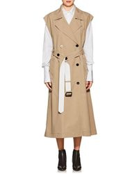 Derek Lam - Belted Cotton Sleeveless Double-breasted Trench Coat - Lyst