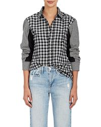 D-ANTIDOTE - Embroidered Plaid Cotton - Lyst