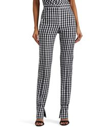 Narciso Rodriguez - Gingham Wool Straight-leg Trousers - Lyst