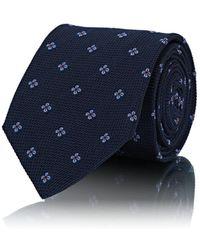 Bigi - Floral-motif Waffle-textured Silk Necktie - Lyst