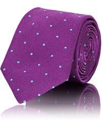 Barneys New York - Polka Dot Silk Faille Necktie - Lyst