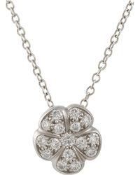 Linda Lee Johnson - Diamond & Platinum June Pendant Necklace - Lyst