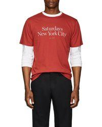 Saturdays NYC - Miller Logo Jersey T-shirt - Lyst