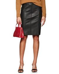 Narciso Rodriguez - Seamed Lambskin Pencil Skirt - Lyst