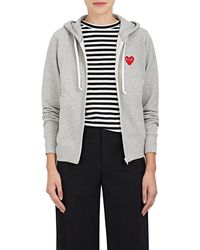 Play Comme des Garçons - French Cotton Terry Hoodie - Lyst