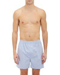Barneys New York - Poplin Boxer Shorts - Lyst