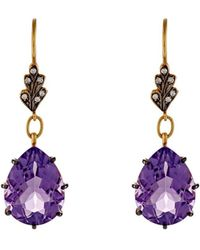 Cathy Waterman - Mixed Gemstone Drop Earrings - Lyst