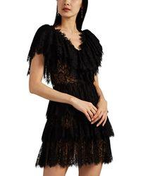 Kalmanovich - Floral Lace Ruffled Minidress - Lyst