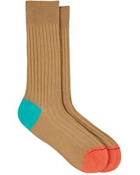 Barneys New York - Colorblocked Stretch-cotton Mid - Lyst