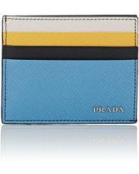 Prada - Colorblocked Leather Card Case - Lyst