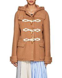 JW Anderson - Wool Melton Hooded Coat - Lyst