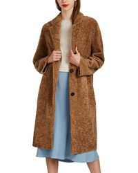 Barneys New York - Shearling Long Coat - Lyst