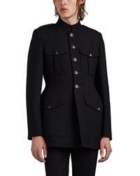 Balenciaga - Virgin Wool Hourglass Military Coat - Lyst