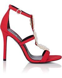 Stella Luna - Embellished Satin Sandals - Lyst