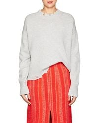 Helmut Lang - Distressed Wool-cashmere Sweater - Lyst