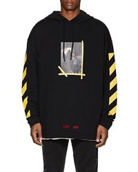 Off-White c/o Virgil Abloh - Annunciation Cotton Terry Hoodie - Lyst