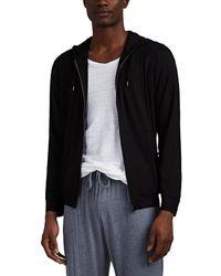 bfc846cf6be0 Calvin Klein Cotton Modal Zip Up Hoodie in Black for Men - Lyst