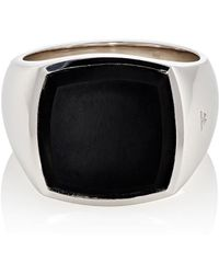 Tom Wood - Cushion Signet Ring - Lyst