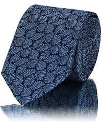 Lanvin - Leaf-pattern Silk Jacquard Necktie - Lyst