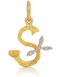 Cathy Waterman - Branch Initial Pendant - Lyst