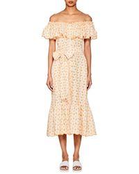 Lisa Marie Fernandez - Mira Embroidered-eyelet Cotton Dress - Lyst